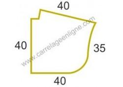Margelle profil plat ou marche bord arrondi en pierre reconstituée FONTVIEILLE Angle sortant R150 (droit ou gauche) ARTEMAT 2960