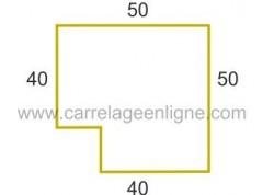 Margelle profil plat ou marche bord arrondi en pierre reconstituée FONTVIEILLE Angle rentrant droit ARTEMAT 2960 MPARD