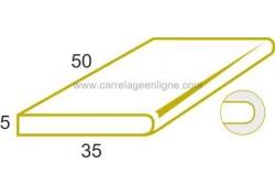 Bord de bassin 1/2 rond en pierre reconstituée FONTVIEILLE elément droit 50 x 35 x 5 ARTEMAT 2980 MP