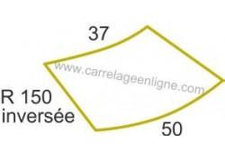 Margelle profil plat ou marche bord arrondi en pierre reconstituée FONTVIEILLE Courbe inversée R150 ARTEMAT 2960 MPCI