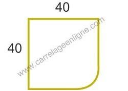 Margelle profil plat ou marche bord arrondi en pierre reconstituée FONTVIEILLE Angle sortant droit ARTEMAT 2960 MPAS