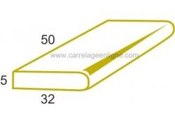 Margelle plate en pierre reconstituée FONTVIEILLE 1/2 élément droit 50 x 32 x 5 ARTEMAT 3455 MPEA