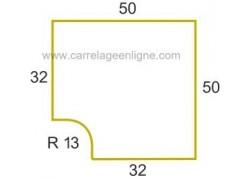 Margelle plate en pierre reconstituée FONTVIEILLE Angle rentrant R13 ARTEMAT 3456 MPAR