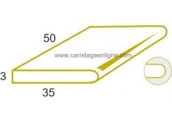 Marche 1 bord arrondi ou margelle plate en pierre reconstituée ÉVASION Elément droit 25 x 35 x 3 ARTEMAT 3300 BDR