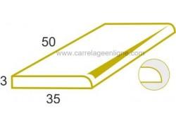 Marche 1 bord arrondi ou margelle plate en pierre reconstituée ÉVASION Elément droit 50 x 35 x 3 ARTEMAT 3300 BR