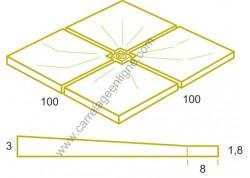 Pédiluve en pierre reconstituée FONTVIEILLE 100 x 100 ARTEMAT 3800PEFO