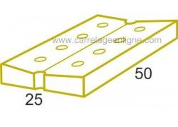 Dalle caniveau en pierre reconstituée FONTVIEILLE Elément droit 50 x 25 perforé ARTEMAT 3910 DC