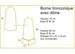 Borne tronconique avec dôme ARTEMAT4075 B