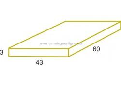 Dalle rectangulaire en pierre reconstituée ÉVASION 60 x 43 x 3 ARTEMAT 1360 DL