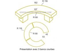 Banc courbe à sceller Hauteur 56 ARTEMAT 5530BC SCE