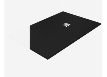 receveur douche l 39 italienne plat bonde noir 100x120 vente en ligne rpb10 100x120 no w d. Black Bedroom Furniture Sets. Home Design Ideas