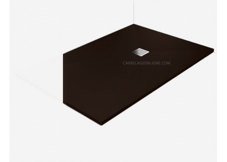 receveur douche l 39 italienne plat bonde chocolat 80x100 vente en ligne rpb8 80x100 ch w d. Black Bedroom Furniture Sets. Home Design Ideas