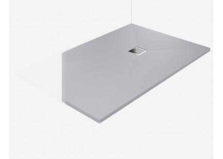Receveur douche à l'italienne plat à bonde gris 90x90 AQUARELL