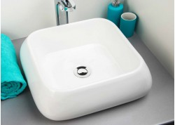 Vasque céramique blanche 50x40x11,5 ETY Aqua Plus