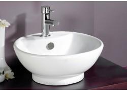 Vasque céramique blanche Ø43,5x16,5 PORTOFINO Aqua Plus