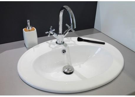 Vasque céramique blanche 55x45x19 ZOE Aqua Plus