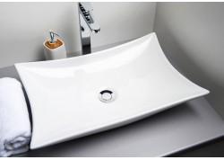 Vasque céramique blanche 57,5x38,5x15 TARA Aqua Plus