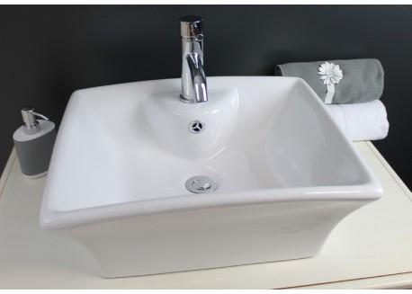 Vasque céramique blanche 48x40x19,5 VESUVE Aqua Plus