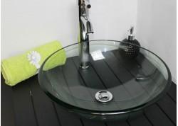 Vasque verre Transparent Ø42x14 MITRA Aqua Plus