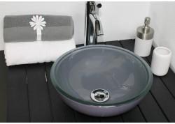 Vasque verre grise Ø31,5x11,5S ANA Aqua Plus