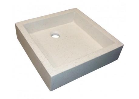 Vasque terrazzo pierre crème 40x40 TIMBRE Aqua Plus