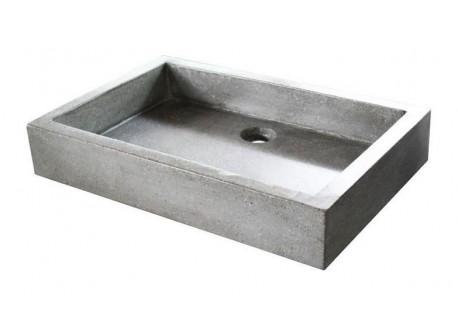 Vasque terrazzo gris ciment 60x40 TIMBRE 60 Aqua Plus