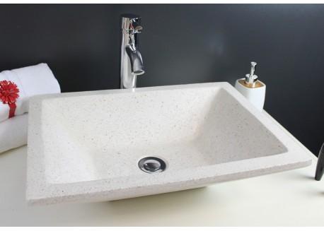 Vasque terrazzo pierre crème 50x37 TAMARA Aqua Plus
