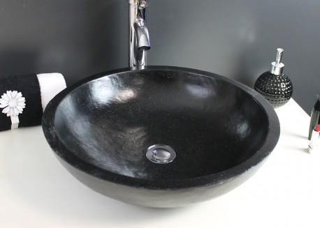 Vasque terrazzo noire Ø40x13 HELOISE Aqua Plus