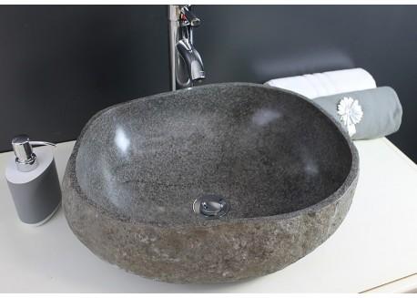 Vasque pierrenaturelle gris ~30x~16 RIVA Aqua Plus