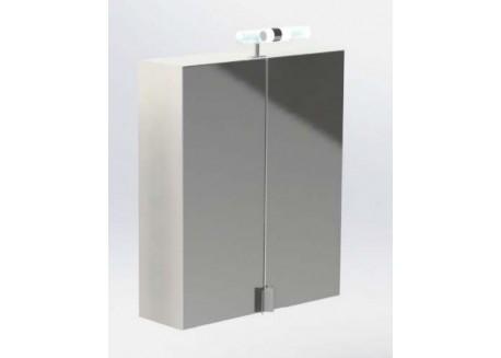 Miroir armoires ALVIE Aqua + 2 portes pivotantes - SACHMMIRALVIE2