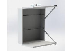 Miroir armoires ALVIE Aqua + porte relevable et porte abattante - SACHMMIRALVIE1