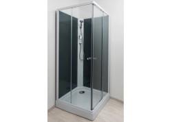 Cabine de douche carrée 80 accès d'angle grise MINEA Aqua + - SACHCABNHMIG