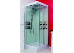 Cabine de douche avec douche de tête 80x80 accès d'angle KELIA Aqua + - SACHCABKELIA