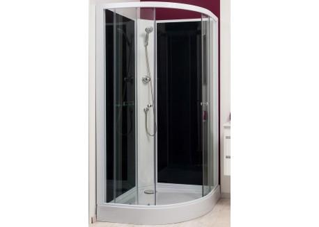 Cabine de douche 80 1 4 de cercle acc s d 39 angle gena aqua sachcabgenh8 - Montage cabine de douche d angle ...