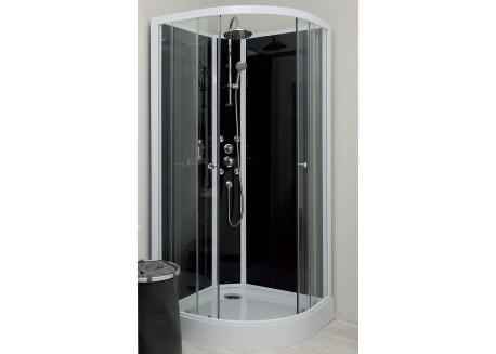 Cabine de douche hydromassante 80 1/4 de cercle accès d'angle GENA Aqua + - SACHCABGEHY8