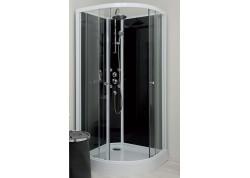 Cabine de douche hydromassante 90 1/4 de cercle accès d'angle GENA Aqua + - SACHCABGEHY9