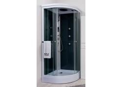 Cabine de douche hydromassante 90 1/4 C accès d'angle ARMONIE Aqua + - SACHCABARMGR