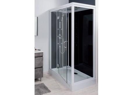 Cabine de douche hydromassante rectangulaire 80x120 RICA Aqua + - SACHCABRICA
