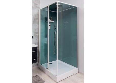 Cabine de douche 90x120 accès de face droite ADELY Aqua + - SACHCABADELD