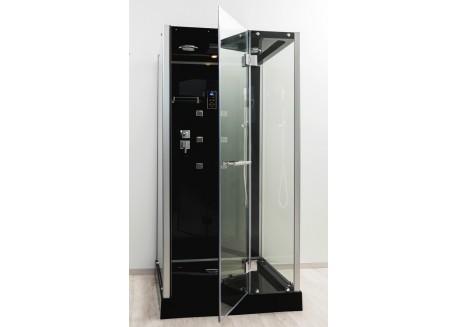 Cabine de douche hydromassante carrée 90x90 FM - BLUETOOTH ® accès de face YTAL Aqua + - SACHCABYTAL