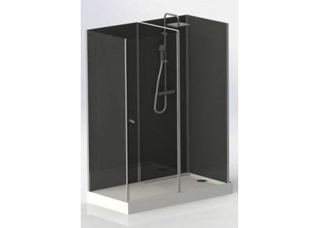 Cabine de douche réversible rectangulaire 150x80 à 2 espaces O'SEC Aqua + - SACHCABOSEC1680
