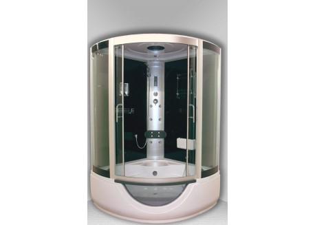 Cabine bain-douche hydromassante pédiluve 136 1/4 C FARO Aqua + - SACHCABFAROX