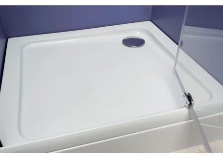 Receveur acrylique haut carré 80 X 80 X 13,7 cm LARY Aqua + - SACHRDDQ080