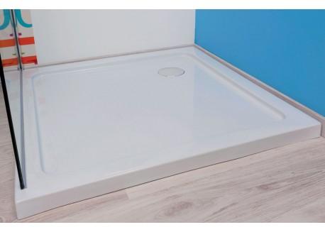 Receveur acrylique YQUA Aqua + Blanc 1/4 C 90 - SACHRDDEPX90C
