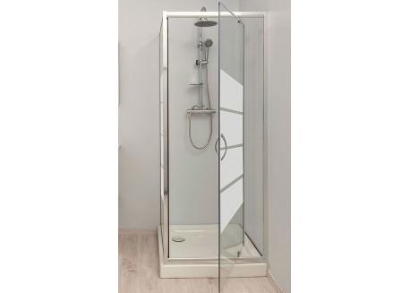Paroi de douche pivotante 80 cm LUCY Aqua + - SACHQLUCCFP80