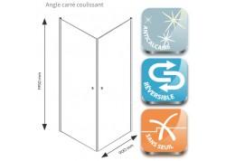 Angle carré coulissant 80 cm FRISCO Aqua + - SACHQFRISCPV9090