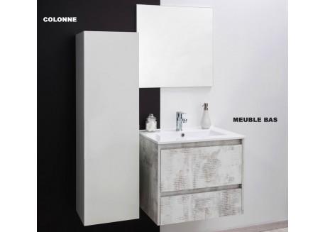 Meuble salle de bain suspendu GAZETTE Aqua + - SAPOMGAZET60