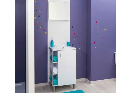 Meuble à poser salle de bain + vasque 50 LIXY Aqua + - SACHMLIXY50R